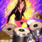 Digital painting photography Utah Ariels pop art drummer 150x150 Digital Painting