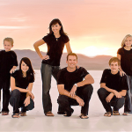 Digital painting photography Utah Free family on Salt flats
