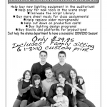 Lone Peak High School  Drama fundraiser proof